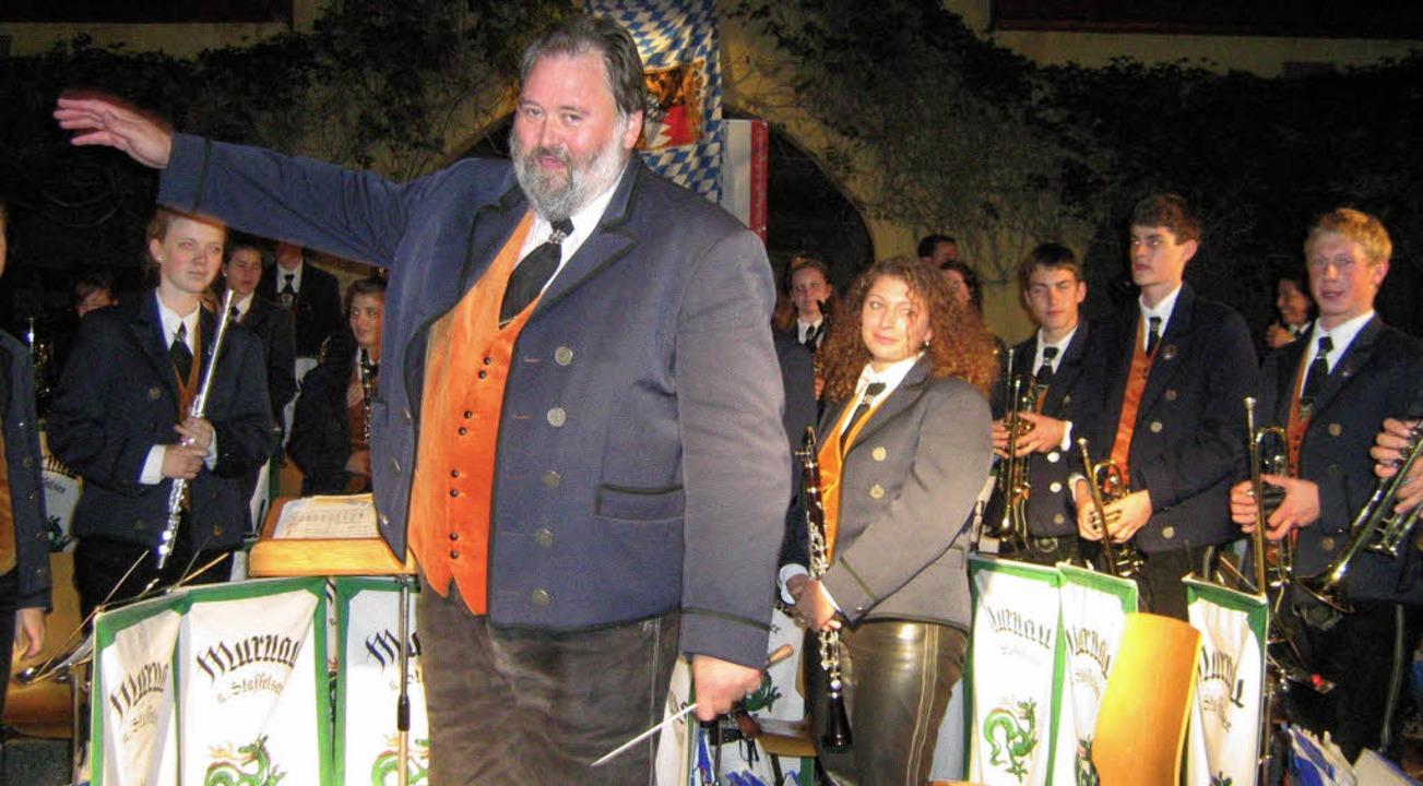 Das Murnauer Blasorchester mit seinem ...konzert viel Applaus und Anerkennung.   | Foto: Anne Freyer
