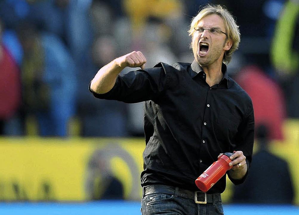Jürgen Klopp lebt Fußball mit Leidensc... ein Freundschaftsspiel mit dem OFV.    | Foto: ddp