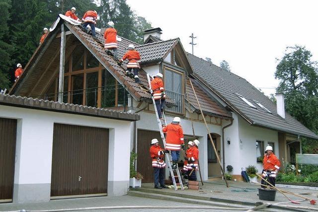 Blitz schlägt in Wohnhaus in Grimmelshofen ein
