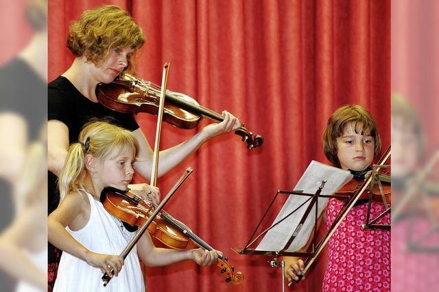 Nachwuchsmusiker beim Sommerkonzert der Jugendmusikschule