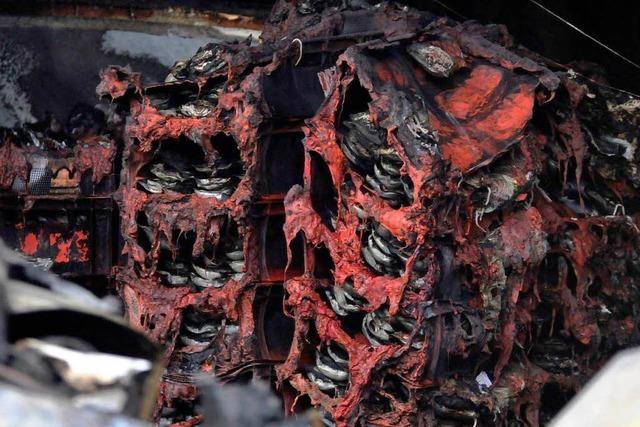 Das Feuer bei der Fleischerei Gruninger