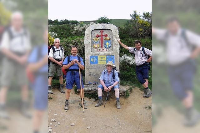 Wanderfreunde aus dem Elztal auf dem Weg nach Santiago