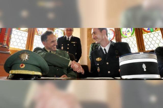 Die Freiburger Polizei und die Gendarmerie Colmar unterzeichnen einen Partnerschaftsvertrag