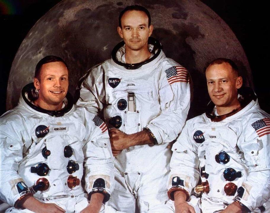 Die Besatzung der Apollo 11  | Foto: dpa
