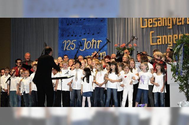 Verdientes Loblied auf die Sänger