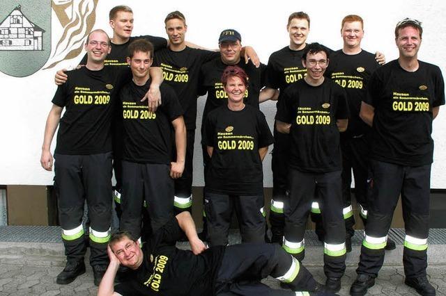 Feuerwehrtruppe glänzte