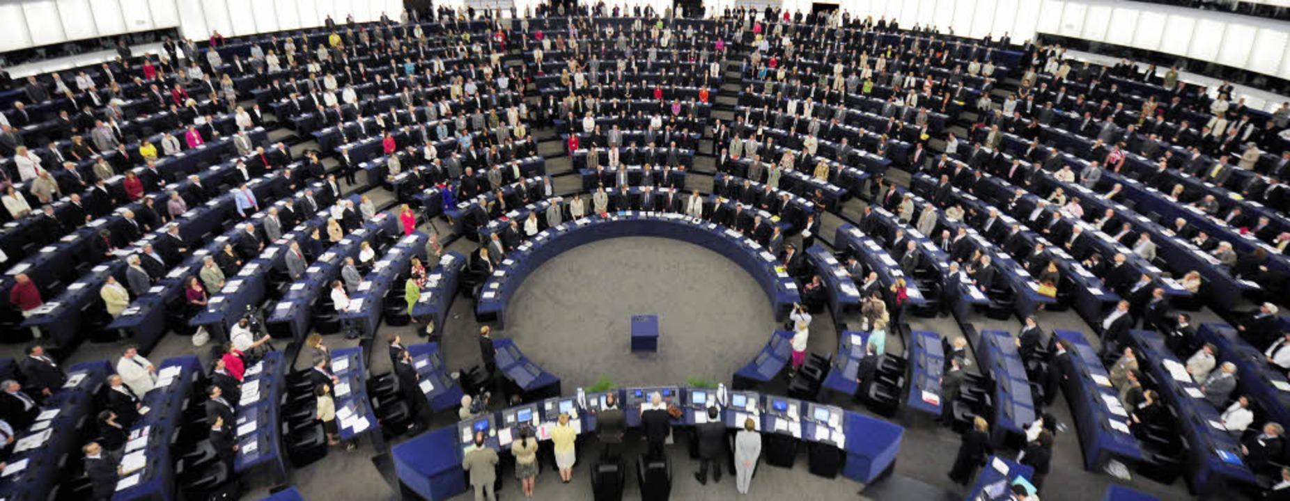 Das neue EU-Parlament  ist  am Dienstag in Straßburg zusammengetreten.     Foto: DPA
