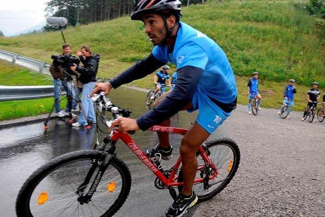 Testspieler Digao überzeugt beim Triathlon
