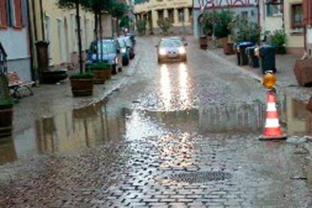 Überflutungen und kleine Erdrutsche in Ettenheim