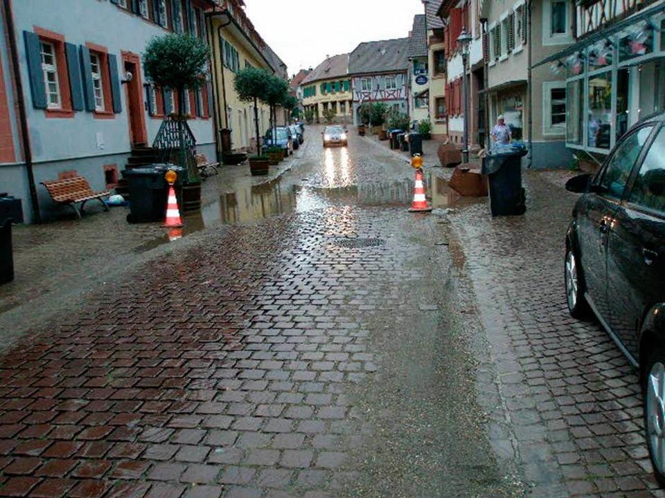 Das  Unwetter in Ettenheim  | Foto: Stadt Ettenheim