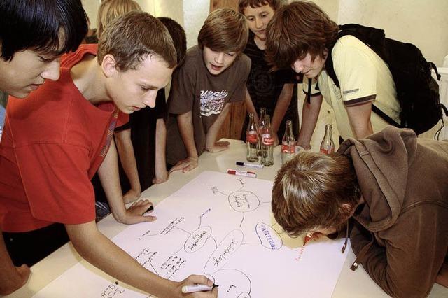 Beim Jugendforum wurden viele Ideen gesammelt
