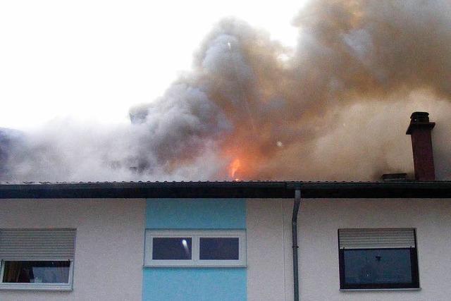 Blitz verursacht Brand in Offenburger Wohnhaus