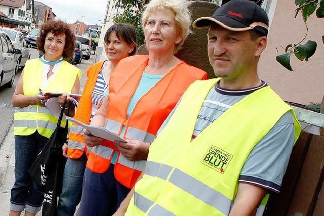 Friesenheimer demonstrieren gegen geplante Verkehrsführung