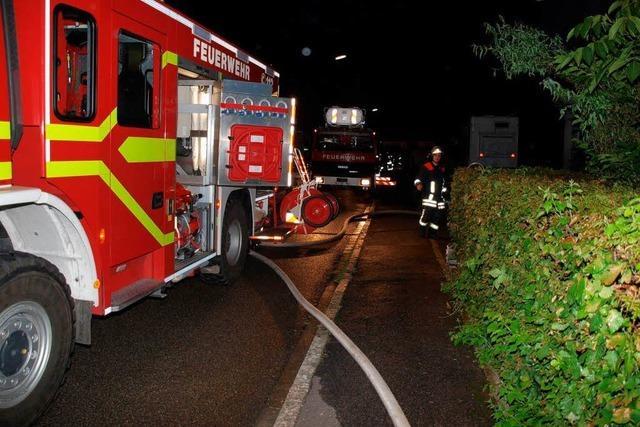 Deckenbrand sorgt für 50 000 Euro Schaden