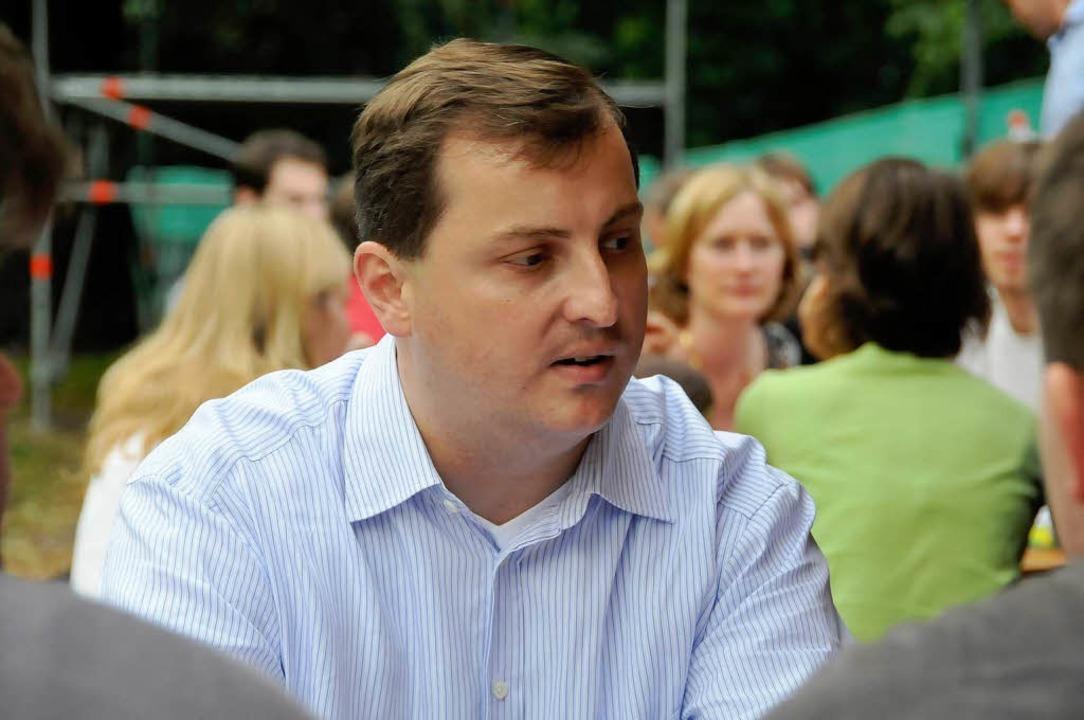 Herausforderer von der CDU: Daniel Sander  | Foto: Ingo Schneider