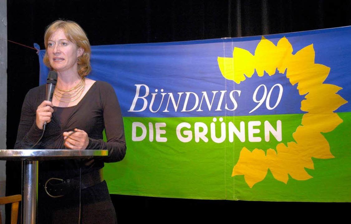 Will die Erst- und Zweitstimmen: Kerstin Andreae (Grüne)  | Foto: Thomas Kunz