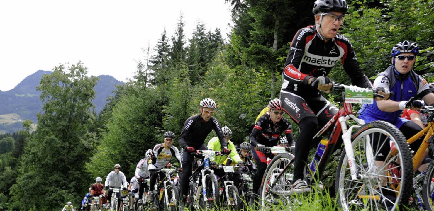Eng ging es zu auf der ersten gefahrenen Etappe der Trans Alp.    Foto: BZ