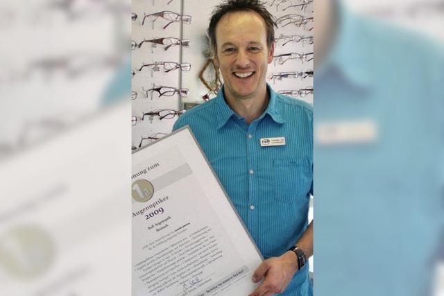 Auszeichnung für Optiker Roll