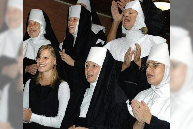 Lehrerkollegium als Nonnen-Chor