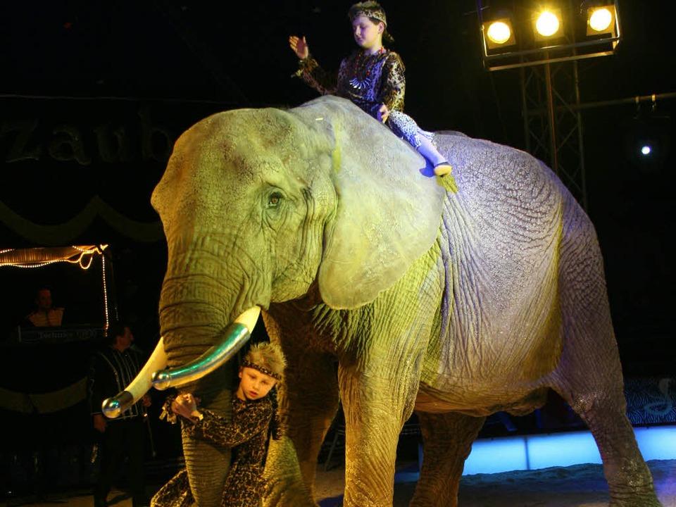 Reiten auf dem Elefanten – das t...s Oberbürgermeister gehört nicht dazu.  | Foto: Rita Eggstein