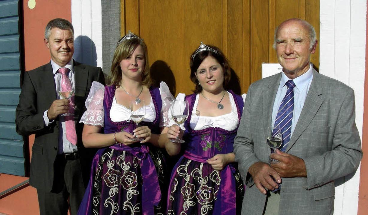 Empfang der Heimatgemeinde für die Bad...en Weinbauverbands,  Gerhard Hurst.     | Foto: mario Schöneberg