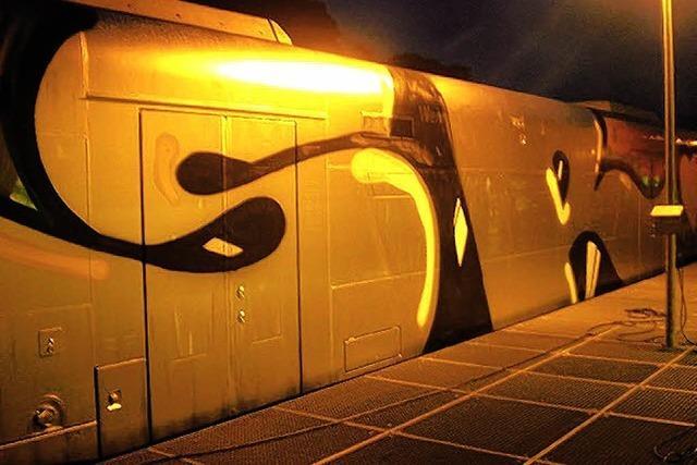 Graffiti-Sprayer lackieren kompletten S-Bahn-Zug