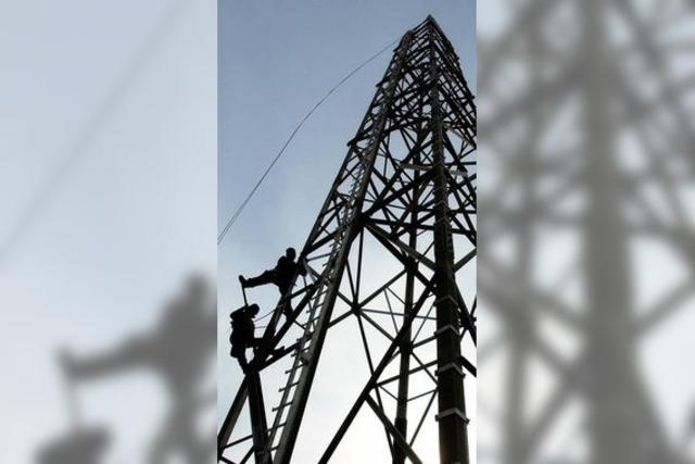 Hoher Turm für Behördenfunk