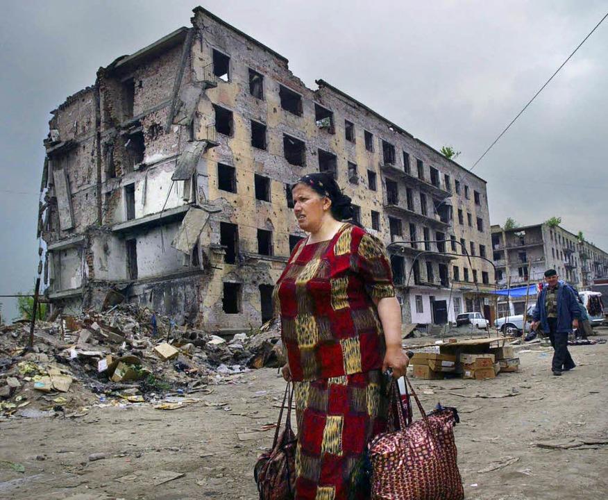 Grosny: Die zerstörte Hauptstadt Tschetscheniens     Foto: afp