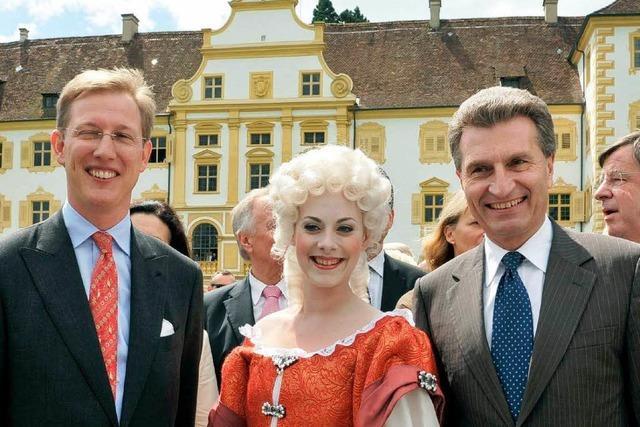 Oettinger eröffnet Bürgerfest im Schloss Salem