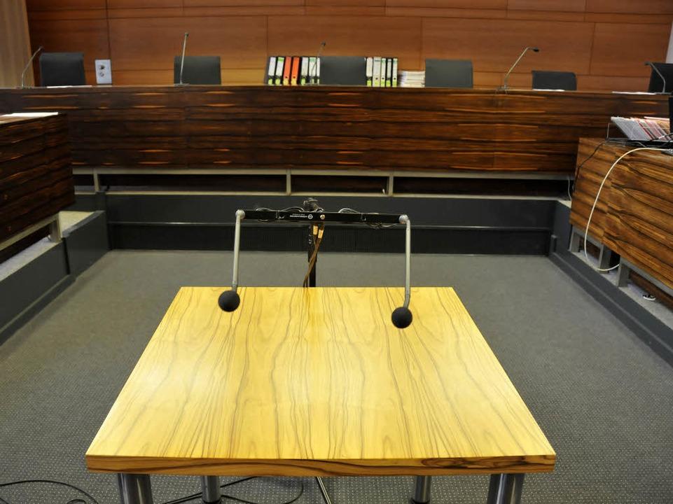 Gerichtssaal im Freiburger Landgericht.  | Foto: Ingo Schneider