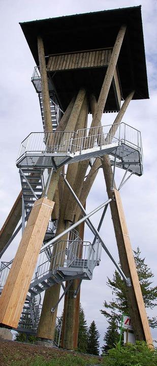 Der neue Aussichtsturm auf dem Hasenhorn wird am 1. August eingeweiht.    | Foto: Privat