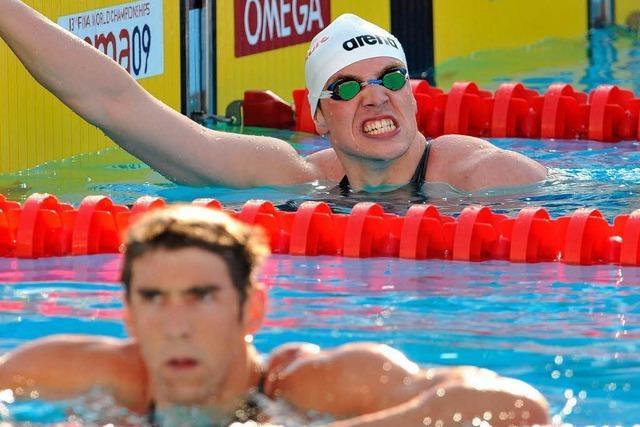 Biedermann schlägt Schwimmstar Michael Phelps