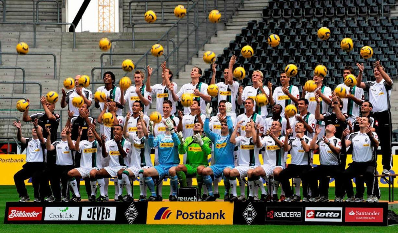 Der Kader von Borussia Mönchengladbach  | Foto: ddp