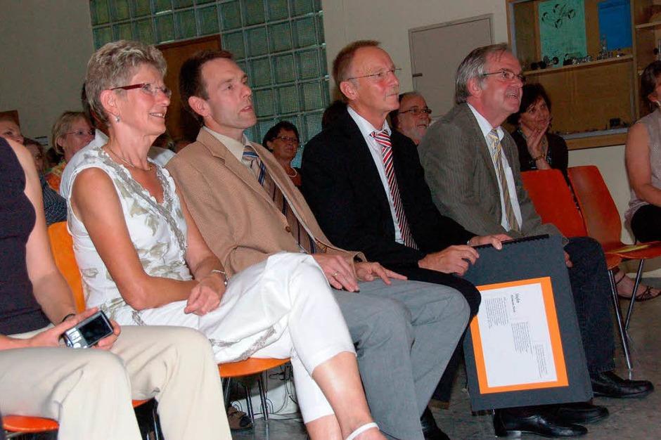 In der  ersten Reihe:  Nicola Halter, Jürgen  Multner, Gunter Halter und Helmut Rüdlin (Foto: Robert Bergmann)