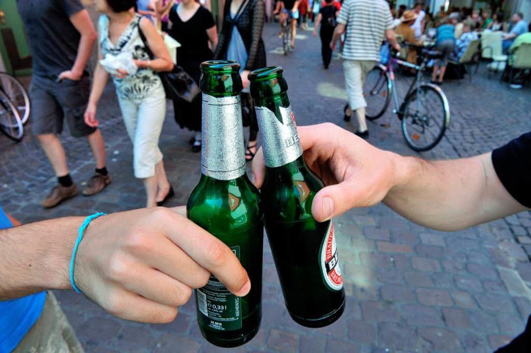 Der VGH kippte am Dienstag das Freiburger Alkoholverbot.    Foto: dpa