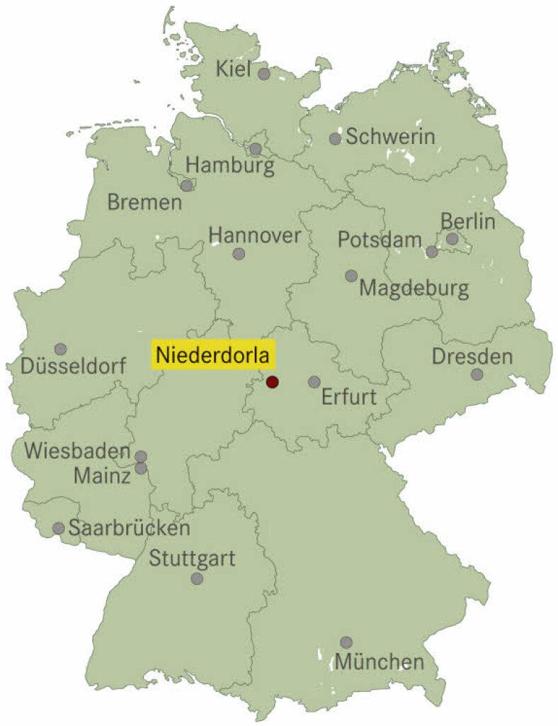 Deutschlandkarte Schwarz Weiß