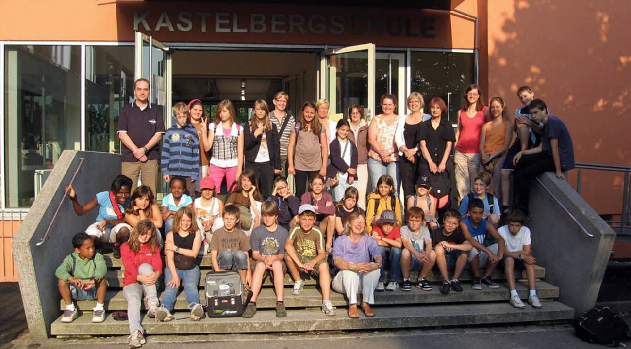 Verabschiedung der französischen Gäste...assen der Kastelbergschule Waldkirch.   | Foto: Schule
