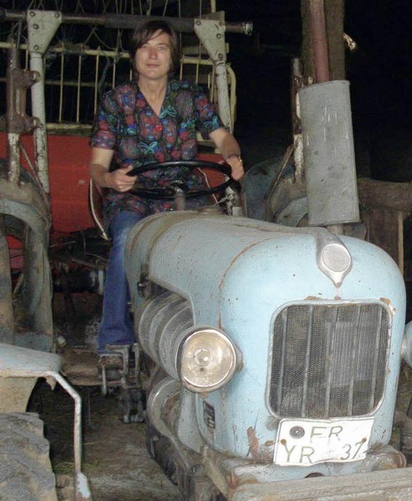 <ppp> und als Traktoristin </ppp>  | Foto: privat