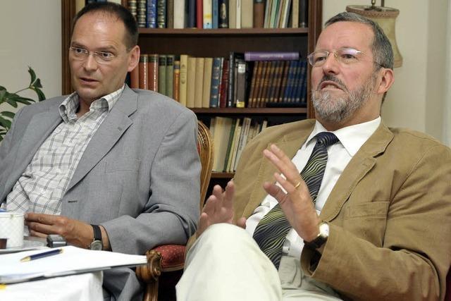Der alte und der neue Vorstand über das krisengebeutelte Evangelische Stift