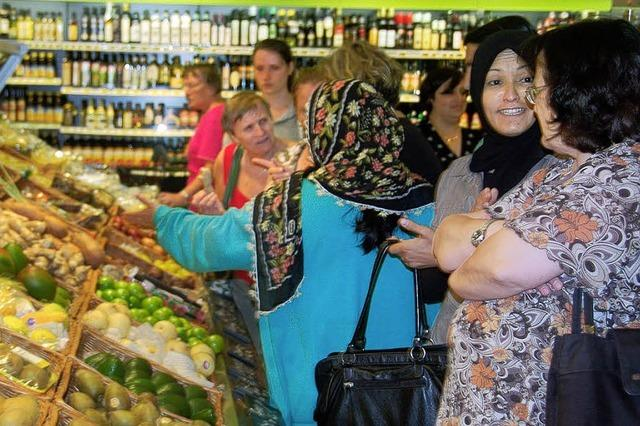 Im Supermarkt über Deutschland lernen