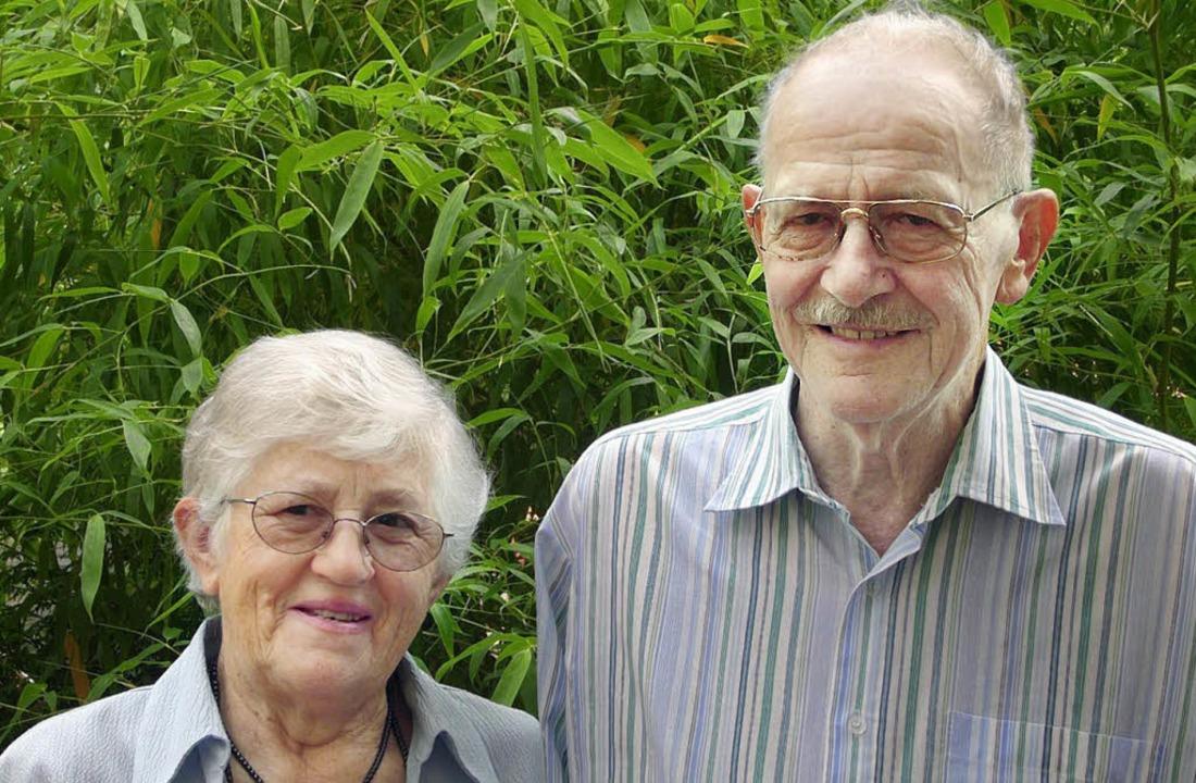 Maria und Artur Eble sind seit 50 Jahren verheiratet.     Foto: Monika Korak