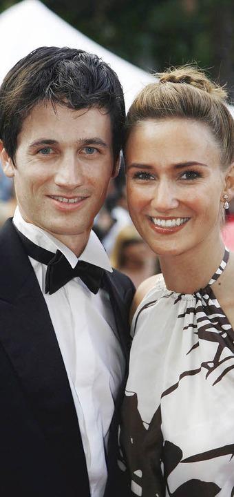 Patricia Steiner und Martin Schmitt  s...er Hochzeit scheint nicht mehr fern.      Foto: DDP