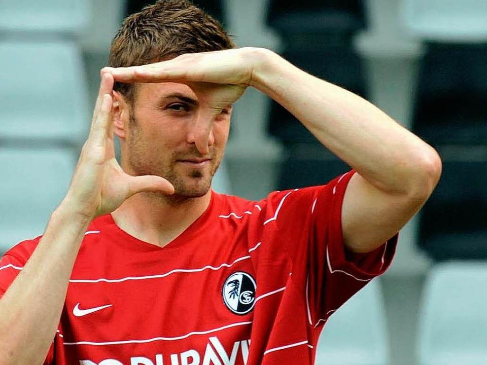 SC-Kapitän Heiko Butscher: Wo könnte in Freiburg das neue Stadion stehen?  | Foto: ddp