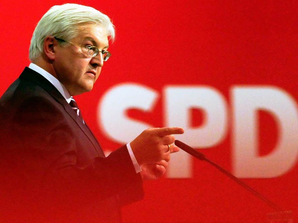 SPD-Kanzlerkandidaten Frank-Walter Steinmeier.  | Foto: dpa