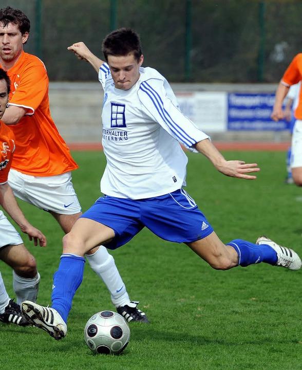 Schnell, schuss- und spielstark: Matth...lfeldspieler der Fußball-Verbandsliga.  | Foto: Schön