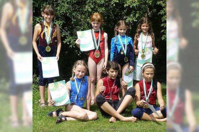 Viele Medaillen beim Kinderturnfest geholt