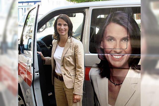 Wahlkampf mit Info-Mobil