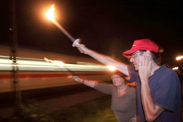 Rheintalstrecke: Bei den Bürgern lodert der Protest