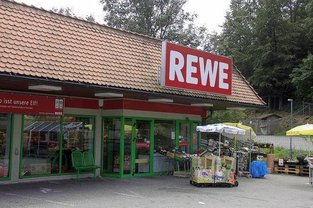 Rewe-Abriss und Neubau