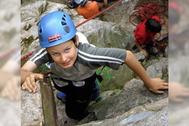 Kinder haben kaum Angst vor dem Abgrund